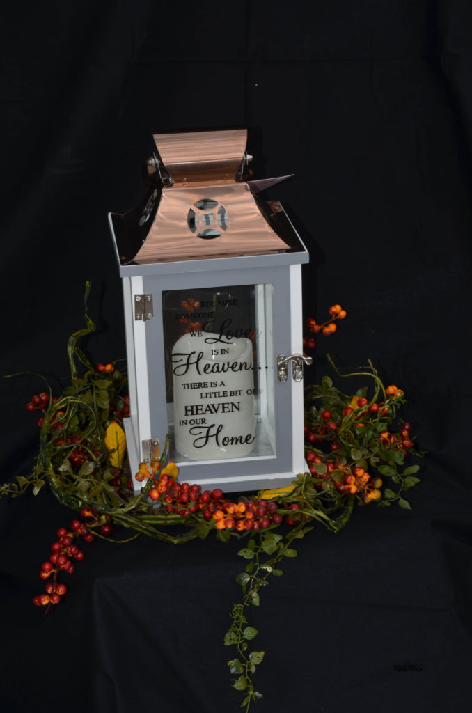 funeral decor candle